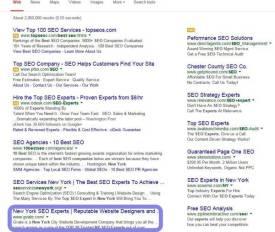 Top 10 SEO Experts NY Google
